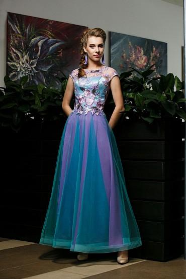 Вечернее платье «Ноктюрн (мята)» фото