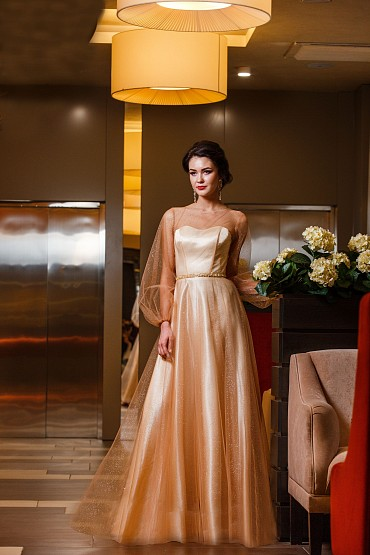 Вечернее платье «Эллада(золото)» фото